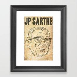 Sartre Framed Art Print