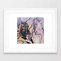 women Framed Art Prints featuring women by Bunny Noir