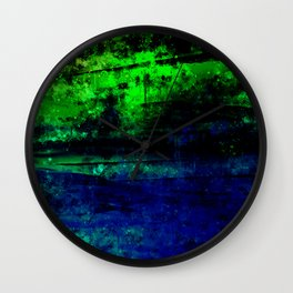 psychedelic sky clouds pattern wslsi Wall Clock