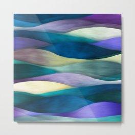 """Sea of ultraviolet and blue waves"" Metal Print"