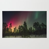 northern lights Area & Throw Rugs featuring Northern Lights  by Limitless Design