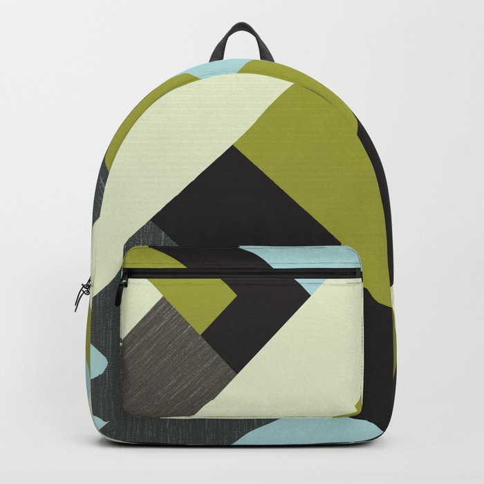 Rectangular geometric Backpack