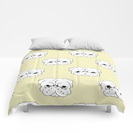 Pug Cringe Face Comforters