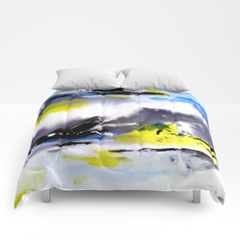 Watercolor Abstract Horizons Comforters
