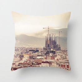 Travel Series: Barcelona Throw Pillow