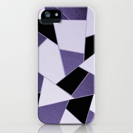 Ultra Violet Geometric Glam #1 #geo #decor #art #society6 iPhone Case