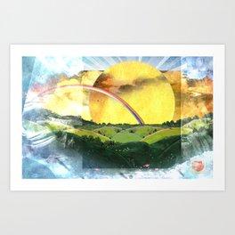 Sun and Rain Art Print