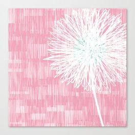 Pink Doodle Floral by Friztin Canvas Print