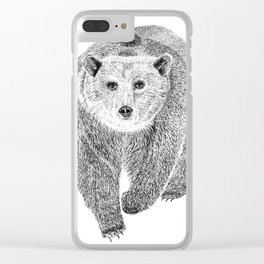 Grizzly Clear iPhone Case