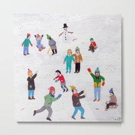Snow Flurry Metal Print