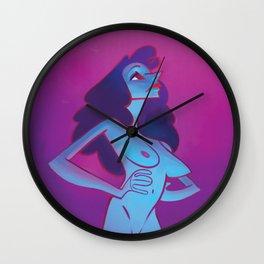 Confident gal Wall Clock