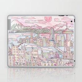 Seattle in Colored Pencil Laptop & iPad Skin