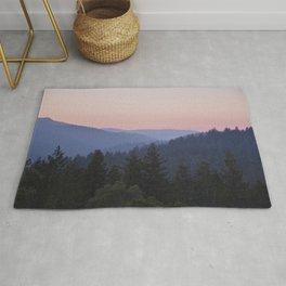 Sunset in the Santa Cruz Mountains Rug