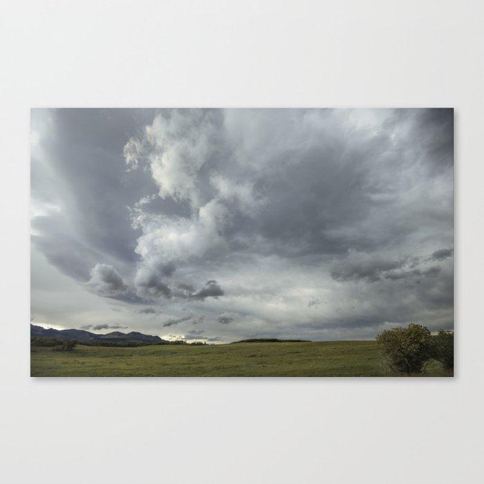 Landscape Photography   Waterton, Alberta   Clouds   Sunset Canvas Print