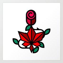 Delicate flower Art Print