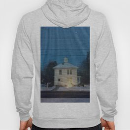White house w/first snow & creche Hoody