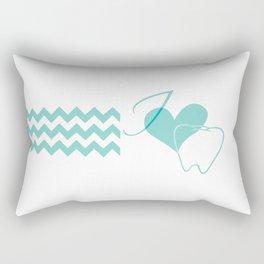 I (heart) Tooth (chevron) Rectangular Pillow