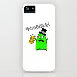 Ghost With Mustache iPhone Case