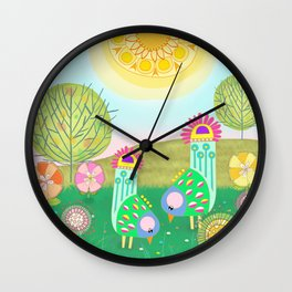 Chelsea Birds Wall Clock
