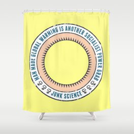 Junk Science Power Grab Shower Curtain