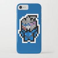 garrus iPhone & iPod Cases featuring 8Bit Icons - Garrus Vakarian by PixelBlock's Pixelshop