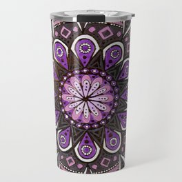 Crown Chakra Purpe Mandala Travel Mug