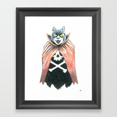 Cat Cape Framed Art Print