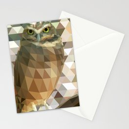 Burrowing Owl - Low Poly Technique Stationery Cards