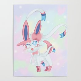 Sylveon in Pastel Space Poster