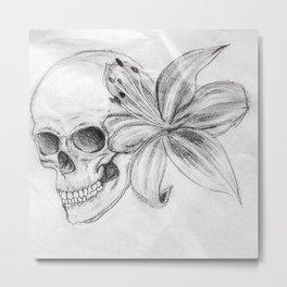Skullgazer Lily Metal Print