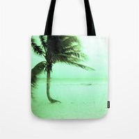 palm Tote Bags featuring Palm by Julia Aufschnaiter