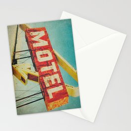 Thrashed Motel Sign Stationery Cards