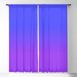 Neon Purple and Bright Neon Blue Ombré Shade Color Fade Blackout Curtain