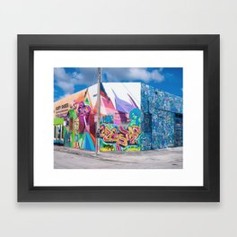Tattooed Walls form Wynwood Miami Grafitti 3 Framed Art Print