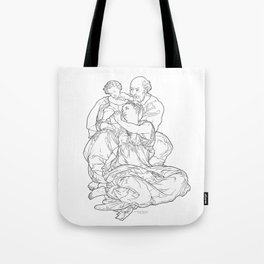 Doni Tondo or Doni Madonna, sometimes called The Holy Family - Michelangelo Tote Bag