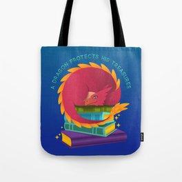 A Dragon Protects His Treasure blue version Tote Bag