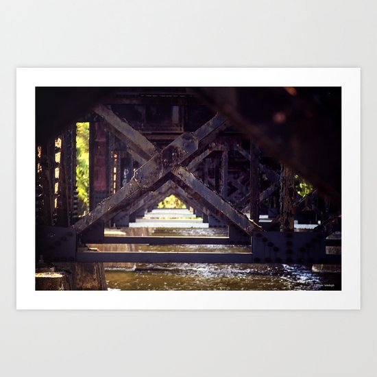 Rusty Bridge Art Print