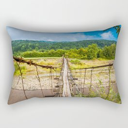 suspension bridge Rectangular Pillow