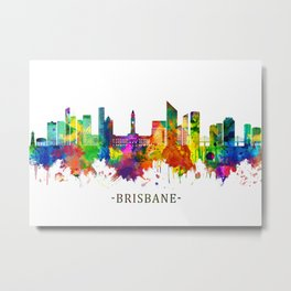 Brisbane Australia Skyline Metal Print
