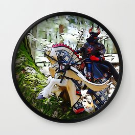 Gallant knight upon Pegasus Wall Clock