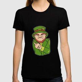 Leprechaun Tattoo Bearded Man Gift T-shirt