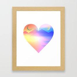 Sunset Heart Framed Art Print