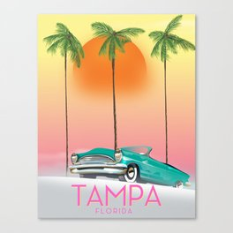 Tampa Florida Travel poster Canvas Print