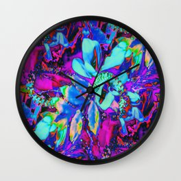Neon Corsage  Wall Clock