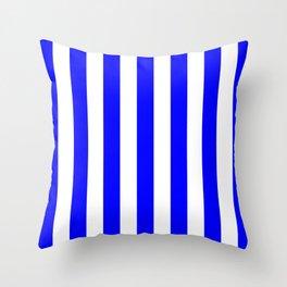Vertical Stripes (Blue/White) Throw Pillow