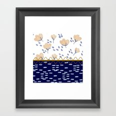 Stitched poppies Framed Art Print