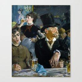 Édouard Manet - The Café-Concert Canvas Print