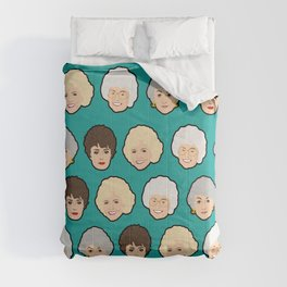 Golden Girls Green Pop Art Comforters
