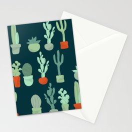 Line of Cacti Stationery Cards