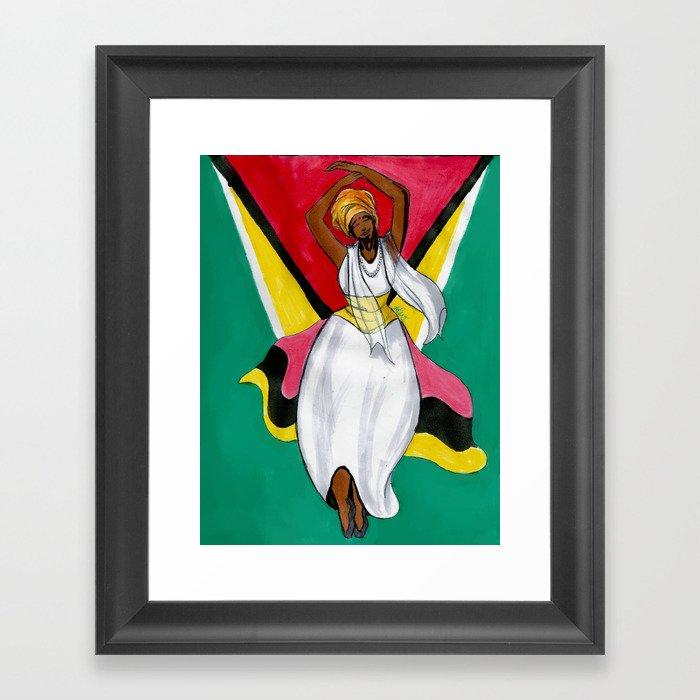 Dear Land of Guyana, of Rivers and Plains Gerahmter Kunstdruck
